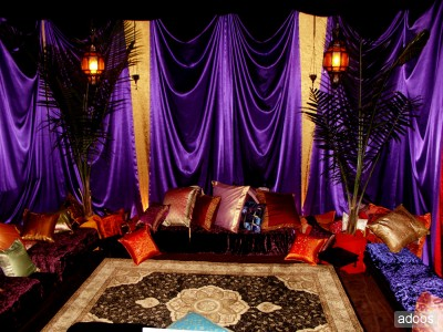 Spectacular arabian nights stage shows with spotlighted for Arabian decoration